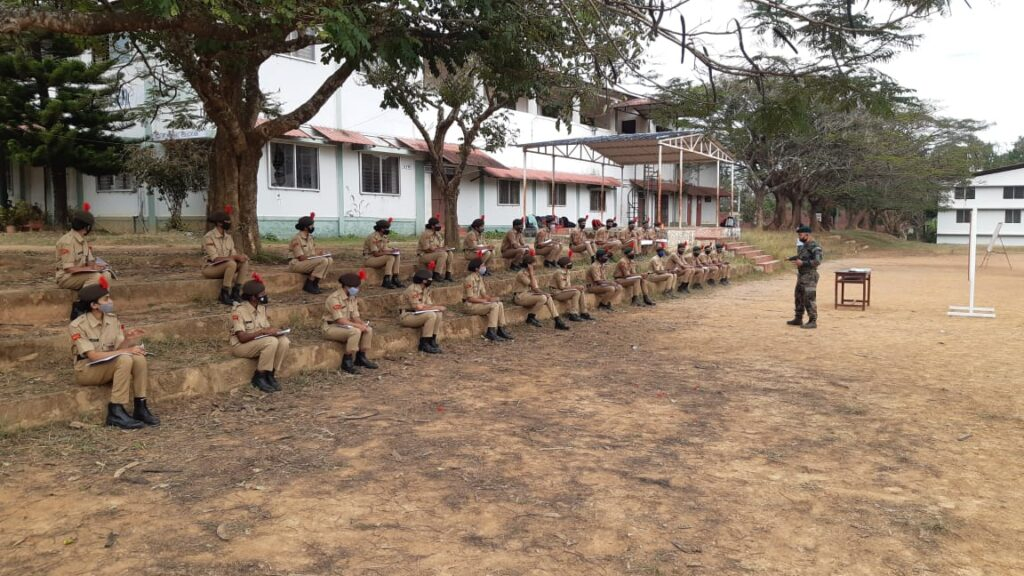 Ncc cadre camp held at Cauvery clg campus from 11th Jan to 15th January 2021