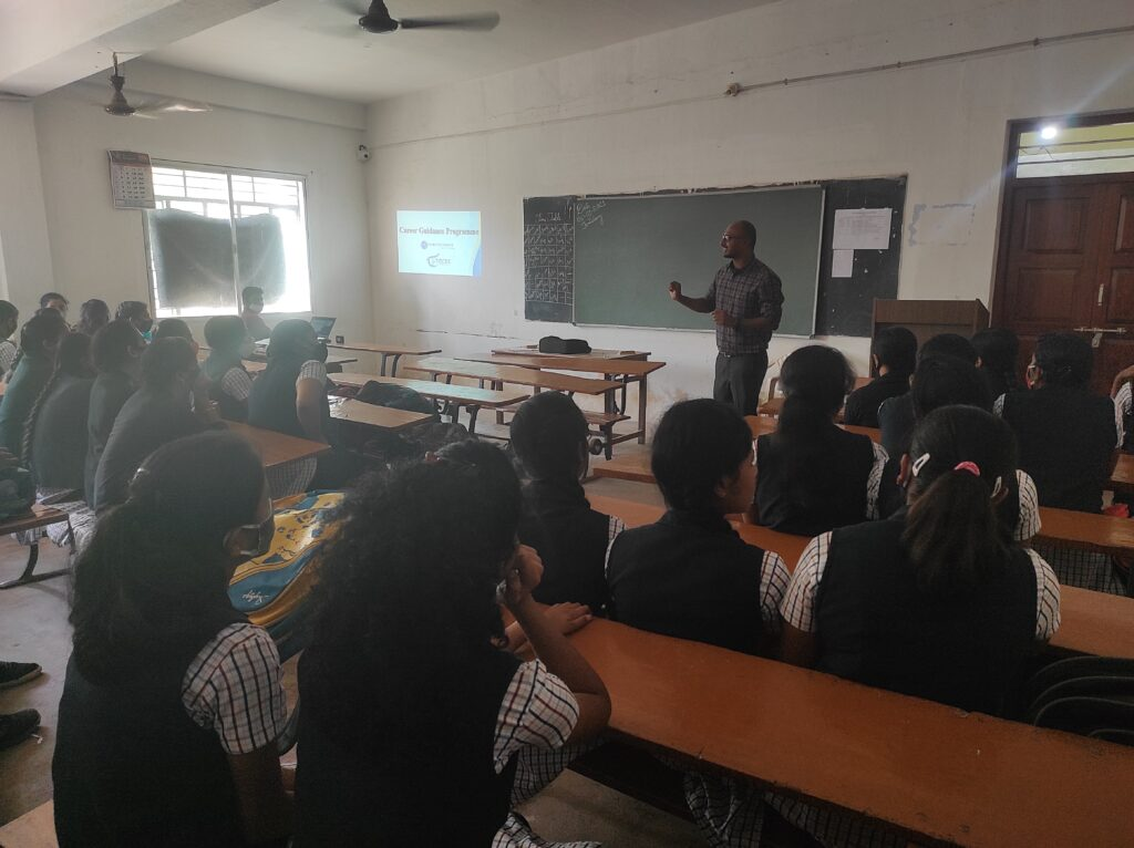 Career guidance program to science students by Thungaraju GD from Bangalore Date: 05.02.2021