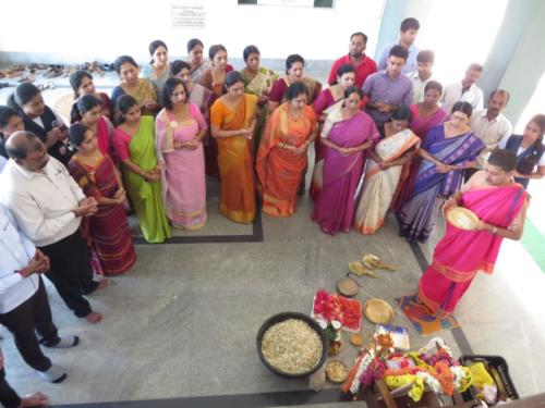 Sharada Pooja Conducted at our Campus